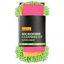 image of Halfords Microfibre Cleaning Kit