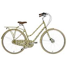 image of Olive and Orange by Orla Kiely Womens Classic Bike - Green Leaf Frame Design