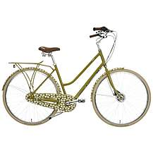 image of Olive and Orange by Orla Kiely Womens Classic Bike - Green Leaf Design