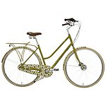 image of Orla Kiely Womens Classic Bike - Green Leaf Design
