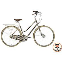 "image of Olive and Orange by Orla Kiely Womens Classic Bike - Olive Frame Design - 17"", 19"" Frames"