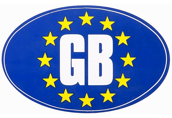 Euro GB Car Sticker - Medium