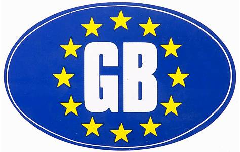 image of Euro GB Car Sticker - Medium