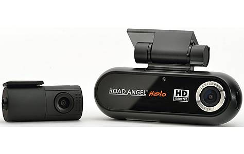 image of Road Angel Halo Dash Cam with front and rear cameras