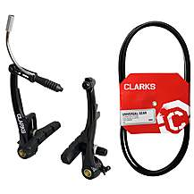 image of Clarks Single V-Brake Callipers and Clarks Universal Bike Gear Cable bundle