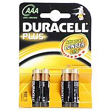 image of Duracell Plus 4 x AAA Batteries