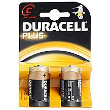 image of Duracell Plus 2 x C Batteries