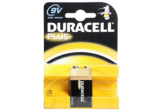 Duracell Plus 1 x 9v Battery