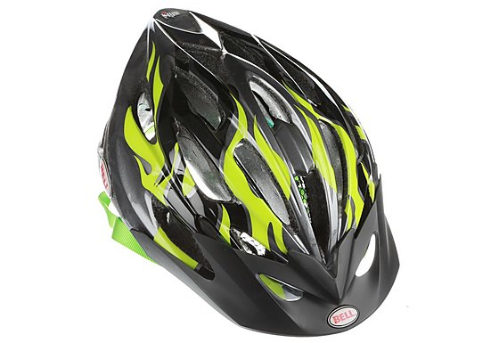Bell Alibi Bike Helmet - Green Flames (50-57cm)