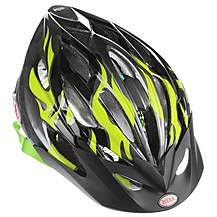 image of Bell Alibi Bike Helmet - Green Flames (50-57cm)