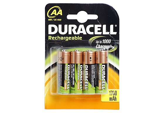 Duracell Rechargeable 4 x AA Batteries