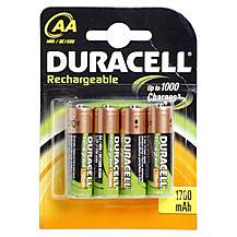 image of Duracell Rechargeable 4 x AA Batteries