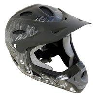 Halfords Fullface Fibreglass Helmet - Black & Grey (58 ...