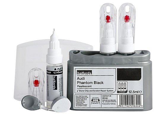 Halfords Audi 'Audi Phantom Black' Scratch & Chip Repair Kit