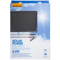 Halfords Solar Battery Maintainer 12v 6W