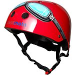 image of Kiddimoto Red Goggles Kids Helmet