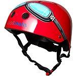 image of Kiddimoto Red Goggles Kids Helmet