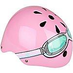 image of Kiddimoto Pink Goggle Kids Helmet