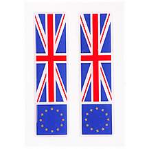 image of Euro and UK Flag Car Stickers