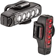 image of Lezyne Strip Drive Front & Rear Bike Light Set