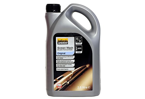 Halfords Double Concentrate Original Screenwash 2.5L