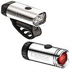image of Lezyne Micro Drive Bike Light Set - Silver