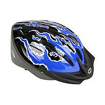 image of Bell Amigo Bike Helmet - Blue Flames (50-55cm)