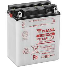 image of Yuasa Powersport Motorcycle Battery YB12AL-A2