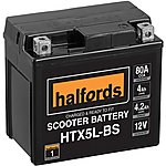 image of Halfords Scooter Battery HTX5L-BS
