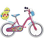 "image of Shopkins Kids Bike 16"" With Collectibles"