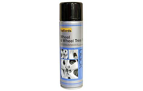 image of Halfords Wheel & Wheel Trim Paint Black 500ml