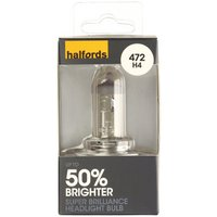 Halfords 472 H4 +50 Brighter Car Bulb x 1