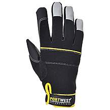 image of Portwest Tradesman Gloves Black Large