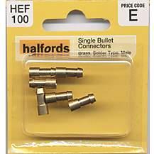 image of Halfords Single Bullet Connectors Male HEF100