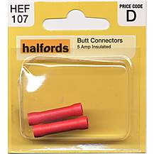 image of Halfords Butt Connectors  5 Amp HEF107