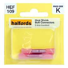 image of Halfords Heat Shrink Butt Connectors 5 Amp