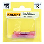 image of Halfords Heat Shrink Butt Connectors 5 Amp
