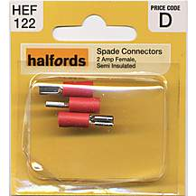 image of Halfords Spade Connectors (HEF122) 2 Amp/Female