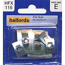 image of Halfords Flat Nuts (HFX116) No.10 & No.14