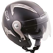 image of Box Open Face JZ-1 Black Helmet