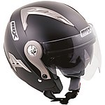 image of Box Open Face JZ-1 Black Helmet