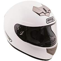 Box White Motorcycle Helmet