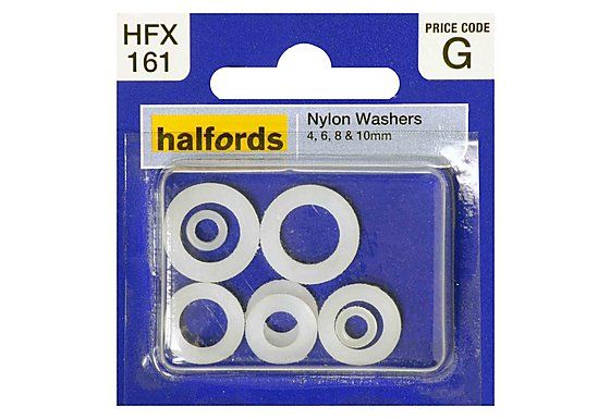 Halfords Assorted Nylon Washers (HFX161)
