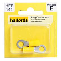 image of Halfords Ring Connectors (HEF144) 30 Amp/6mm