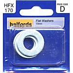 image of Halfords Flat Washers 13mm