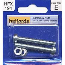 image of Halfords Screws & Nuts 1.5x2BA Towing Sockets