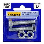 image of Halfords Set Screws and Nuts M8 x 40mm HFX201