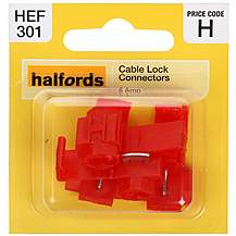 image of Halfords Cable Lock Connectors 5 Amp
