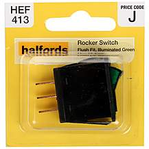 image of Halfords Illuminated Rocker Switch