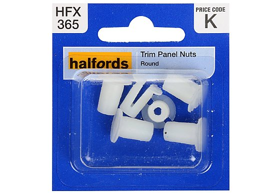 Halfords Trim Panel Nuts (HFX365)
